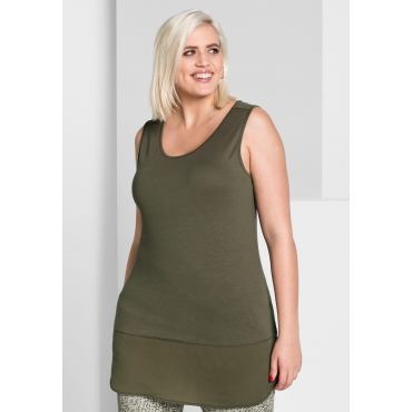 Top in Layer-Optik, dunkelkhaki, Gr.44-58