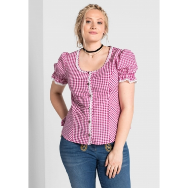 Trachtenbluse, pink, Gr.40-58
