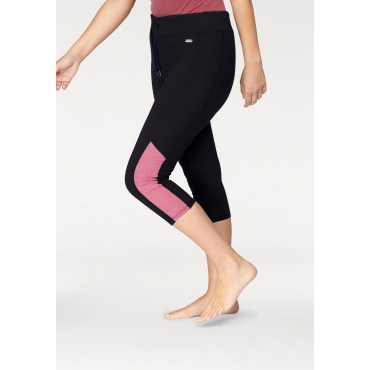 Leggings, schwarz-pink, Gr.44-58