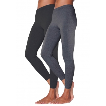 Vivance 2er tight leggings, anthrazit+schwarz, Gr.40/42-56/58