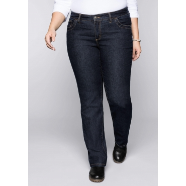 Wasserabweisende Stretch-Jeans LANA in 5-Pocketform, dark blue Denim, Gr.44-58