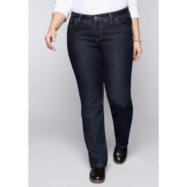 Wasserabweisende Stretch-Jeans LANA in 5-Pocketform, dark blue Denim, Gr.44-58