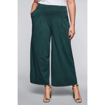 Weite Jerseyhose im Culotte-Stil, tiefgrün, Gr.44-58