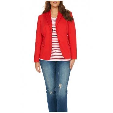 Studio Untold Blazer aus Cottonsatin - Fashion 42-54, Damen, Rot, Gr. 42,44,46,48,50,52,54