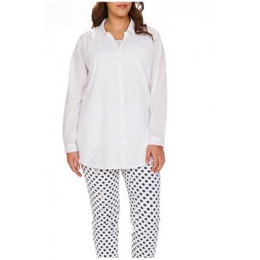 Studio Untold Bluse, Cotton Voile - Fashion 42-54, Damen, Weiß, Gr. 42,44,46,48,50,52,54