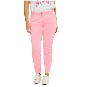 Studio Untold Damen  Jeans, Skinny, Neonpink, 5-Pocket, Studio Untold, neonpink, Gr. 54, Mode in großen Größen