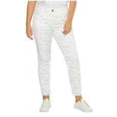 Große Größen Studio Untold Damen  Jeans, Skinny, Sternenmuster, 5-Pocket, Weiß, Gr. 42,44,46,48,50,52,54