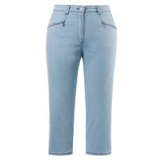 Große Größen Ulla Popken Damen  7/8 Jeans Mony, gerade Form, Zippertaschen, querelastisch, Blau, Gr. 42,44,46,48,50,52,54,56,58,60