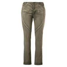 Große Größen Ulla Popken Damen  Curvy-Jeans, Ziernähte, konisches Bein, 5-Pocket-Modell, schattengrün, Gr. 42,46,58,44,48,50,52,54,56,60,62