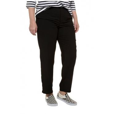 Studio Untold Damen  Hose, schmal geschnitten, verdeckter Knopf, schwarz, Gr. 54, Mode in großen Größen