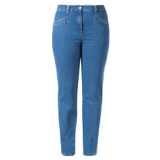 Große Größen Ulla Popken Damen  Jeans Mony, Stretch, gerades Bein, querelastische Qualität, Blau, Gr. 42,44,58