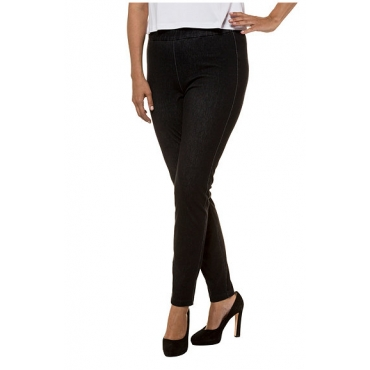 Ulla Popken Damen  Jerseyjeans Sienna, schmales Bein, Stretch, selection, dunkelblau, Gr. 56, Mode in großen Größen