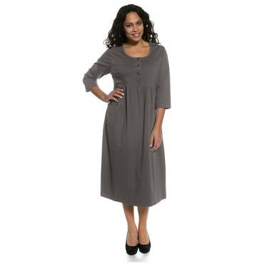 Große Größen Ulla Popken Damen  Kleid, Jersey, Ausschnitt mit Knopfleiste, Relaxed, , Gr.