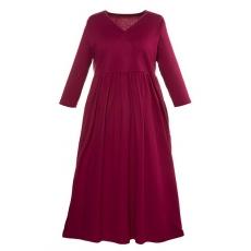 Große Größen Ulla Popken Damen  Kleid, Jersey, Wickeloptik, A-Line, bis Gr. 66/68, Rot, Gr. 42/44,46/48,50/52,54/56,58/60,62/64,66/68