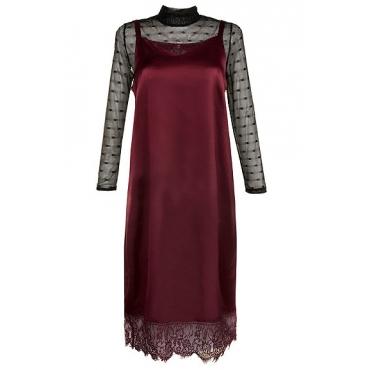 Große Größen Ulla Popken Damen  Kleid, Rot, Gr. 42,44,46,48,50,52,54