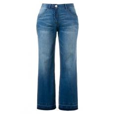 Große Größen Ulla Popken Damen  Marlene-Jeans Mary, 5-Pocket-Form, weites Bein, offener Saum, Blau, Gr. 42,44,46,48,50,52,54,56