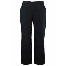 Große Größen Ulla Popken Damen  Marlene-Jeans, weites Bein, Bügelfalte, Stretchdenim, Schwarz, Gr. 42,44,46,48,50