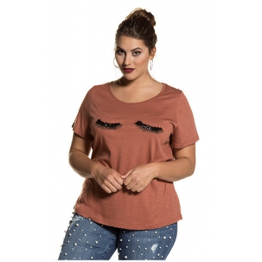 Große Größen Ulla Popken Damen  Shirt, Braun, Gr. 42/44,46/48,50/52,54/56