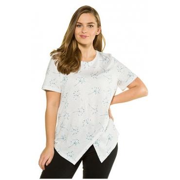 Ulla Popken Damen  Shirt, Lagenoptik, Regular, Biobaumwolle, PURE, puderblau, Gr. 58/60, Mode in großen Größen