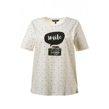 Große Größen Ulla Popken Damen  Shirt, muschelweiß, Gr. 42/44,46/48,50/52,54/56,58/60,62/64