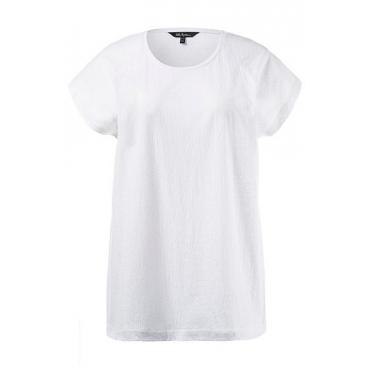 Große Größen Ulla Popken Damen  Shirt, Weiß, Gr. 42/44,46/48,50/52,54/56,58/60,62/64