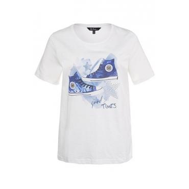 Große Größen Ulla Popken Damen  Shirt, Weiß, Gr. 42/44,54/56,46/48,50/52,58/60,62/64