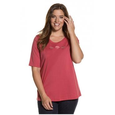 Große Größen Ulla Popken Damen  Shirts, 2er-Pack, Schwarz, Gr. 42/44,46/48,50/52,54/56,58/60,62/64