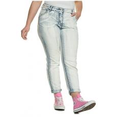 Große Größen Ulla Popken Damen  Skinny-Jeans, Color-Effekte, Stretchdenim, 5-Pocket-Form, Blau, Gr. 42,44,46,48,50,52,54