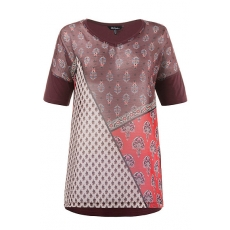 Große Größen Ulla Popken Damen  T-Shirt, Patchlook, oversized, Rot, Gr. 42/44,46/48,50/52,54/56