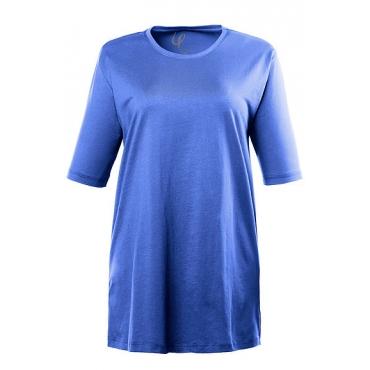 Große Größen Ulla Popken Damen  T-Shirt, Relaxed, Basic, Rundhals, Öko-Tex 100, Blau, Gr. 42/44,46/48,50/52,54/56,58/60,62/64,66/68