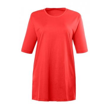 Große Größen Ulla Popken Damen  T-Shirt, Relaxed, Basic, Rundhals, Öko-Tex 100, Rot, Gr. 42/44,46/48,50/52,54/56