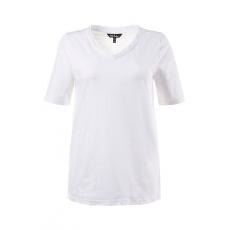 Große Größen Ulla Popken Damen  T-Shirt, Stickerei-Bordüre, Classic, V-Ausschnitt, Weiß, Gr. 42/44,46/48,50/52,54/56,58/60
