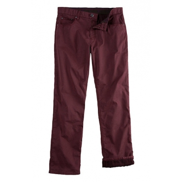 JP1880 Herren  Hose, Thermofutter, 5-Pocket, Regular Fit, Stretch, bordeaux, Gr. 62, Mode in großen Größen