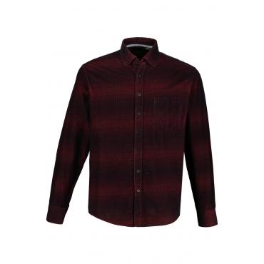 JP1880 Cordhemd Herren, schwarz, Baumwolle, Mode in großen Größen