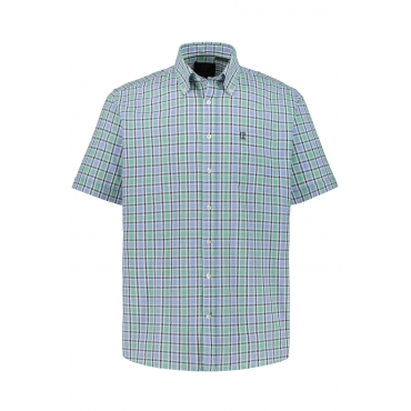 JP1880  Halbarm-Hemd Herren XXL, grün, Baumwolle, Mode in großen Größen