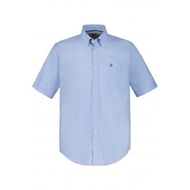 JP1880  Halbarm-Hemd Herren XXL, hellblau, Baumwolle, Mode in großen Größen