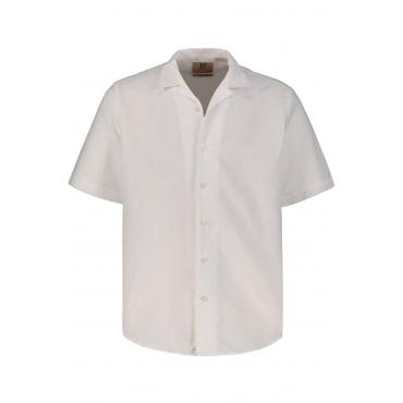 JP1880  Halbarm-Hemd Herren XXL, weiß, Leinen, Mode in großen Größen