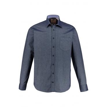 JP1880  Hemd Herren XXL, blue, Baumwolle, Mode in großen Größen