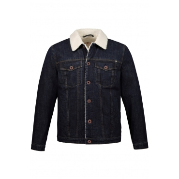 JP1880  Herren-Jeansjacke Herren XXL, darkblue, Baumwolle, Mode in großen Größen