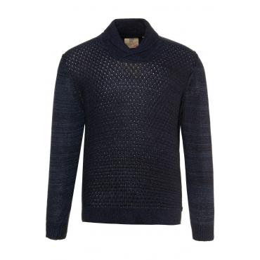 JP1880  Pullover Herren XXL, dunkel marine, Polyacryl, Mode in großen Größen