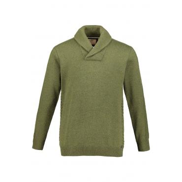 JP1880 Pullover Herren, helloliv, Polyamid, Mode in großen Größen