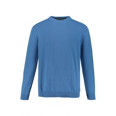 JP1880 Pullover Herren, dunkel-aqua, Baumwolle, Mode in großen Größen