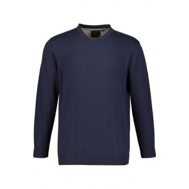 JP1880  Pullover Herren Größe XXL, grau-melange, Mode in großen Größen