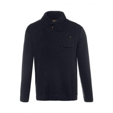 JP1880  Pullover Herren Größe XXL, navy, Mode in großen Größen