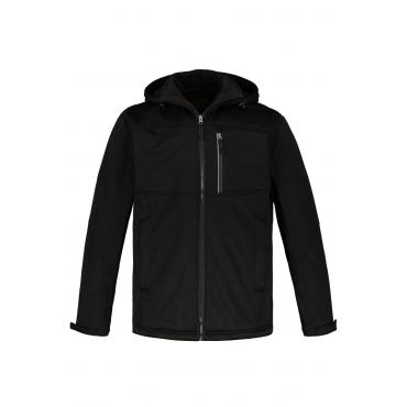 JP1880  Softshelljacke Herren XXL, schwarz, Polyester, Mode in großen Größen