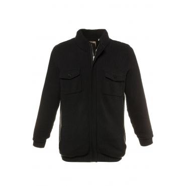 JP1880  Strickjacke -  Herren XXL, schwarz, Baumwolle, Mode in großen Größen