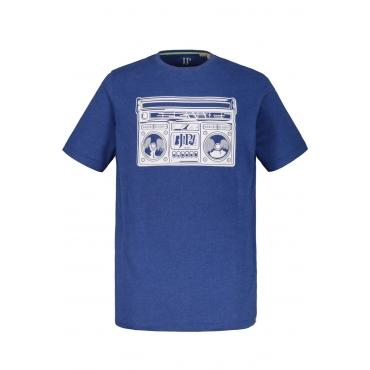 JP1880  T-Shirt Herren XXL, blau-melange, Baumwolle, Mode in großen Größen