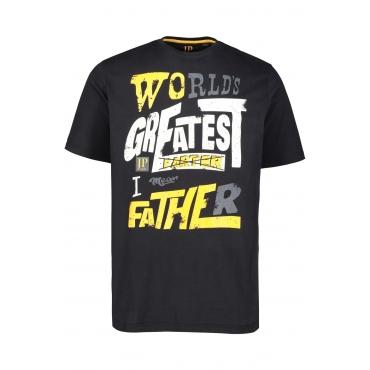 JP1880  T-Shirt Herren XL, schwarz, Baumwolle, Mode in großen Größen