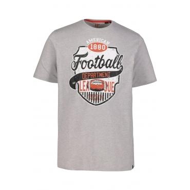 JP1880  T-Shirt Herren XXL, hellgrau-melange, Baumwolle, Mode in großen Größen