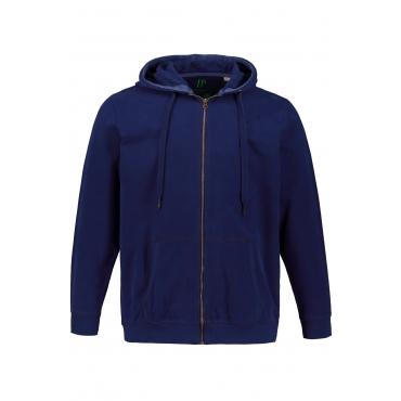 JP1880  Hoodie Herren XXL, ultramarine, Baumwolle, Mode in großen Größen
